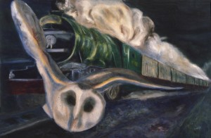 Barn-Owl-and-Flying-Scotsman